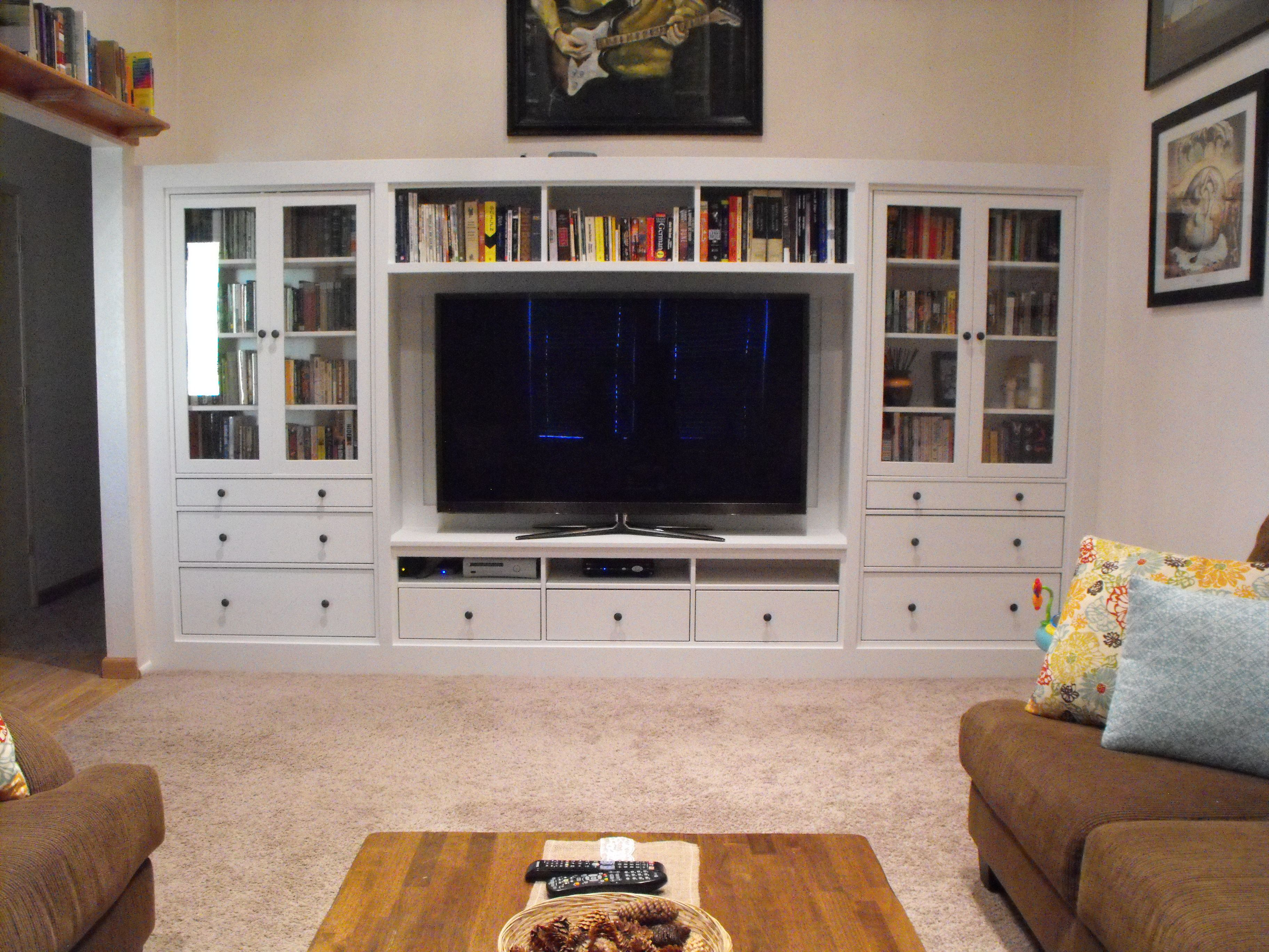 Diy Built In For The Living Room We Made Ourselves Out Of