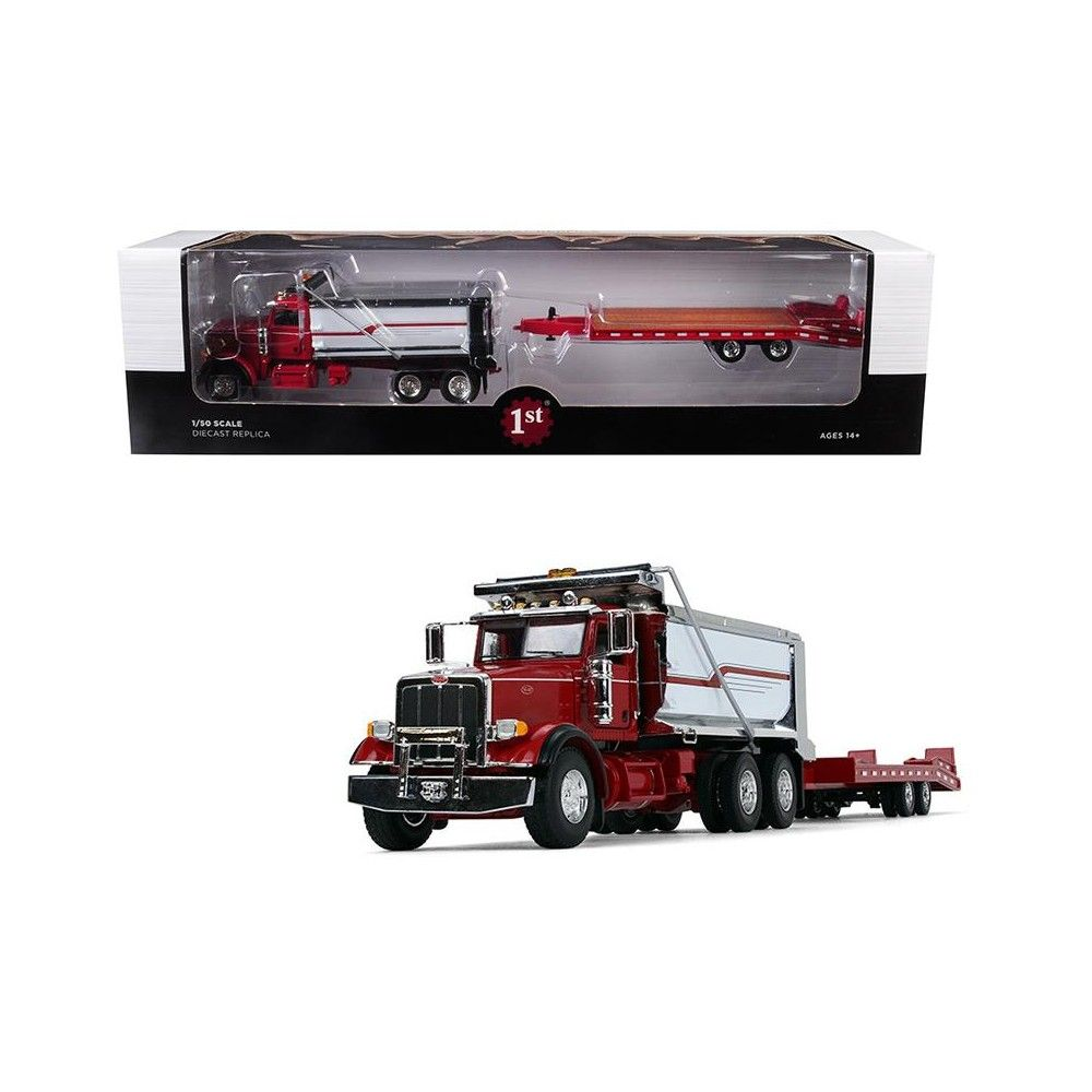 Peterbilt Model 367 Tandem Axle Dump Truck with Beavertail
