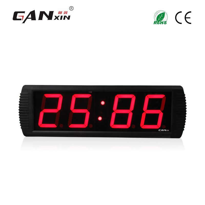 Ganxin 4 Low Voltage Led Stopwatch Clock Digital Wall Clock With Factory Price Led Wall Clock Led Alarm Clock Alarm Clock