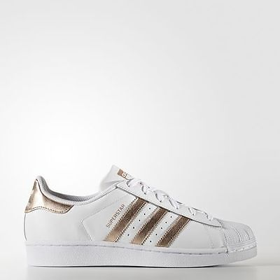 Women Adidas Originals Superstar White Bronze Shoes tubular New rose gold  BA8169