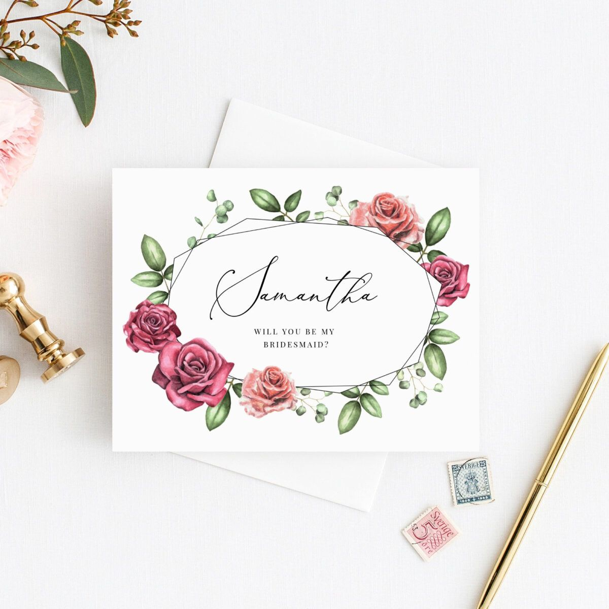 Will You Be My Bridesmaid Card Will You Be My Maid Of Honor Card Instant Download Editable Temp Be My Bridesmaid Will You Be My Bridesmaid Bridesmaid Cards
