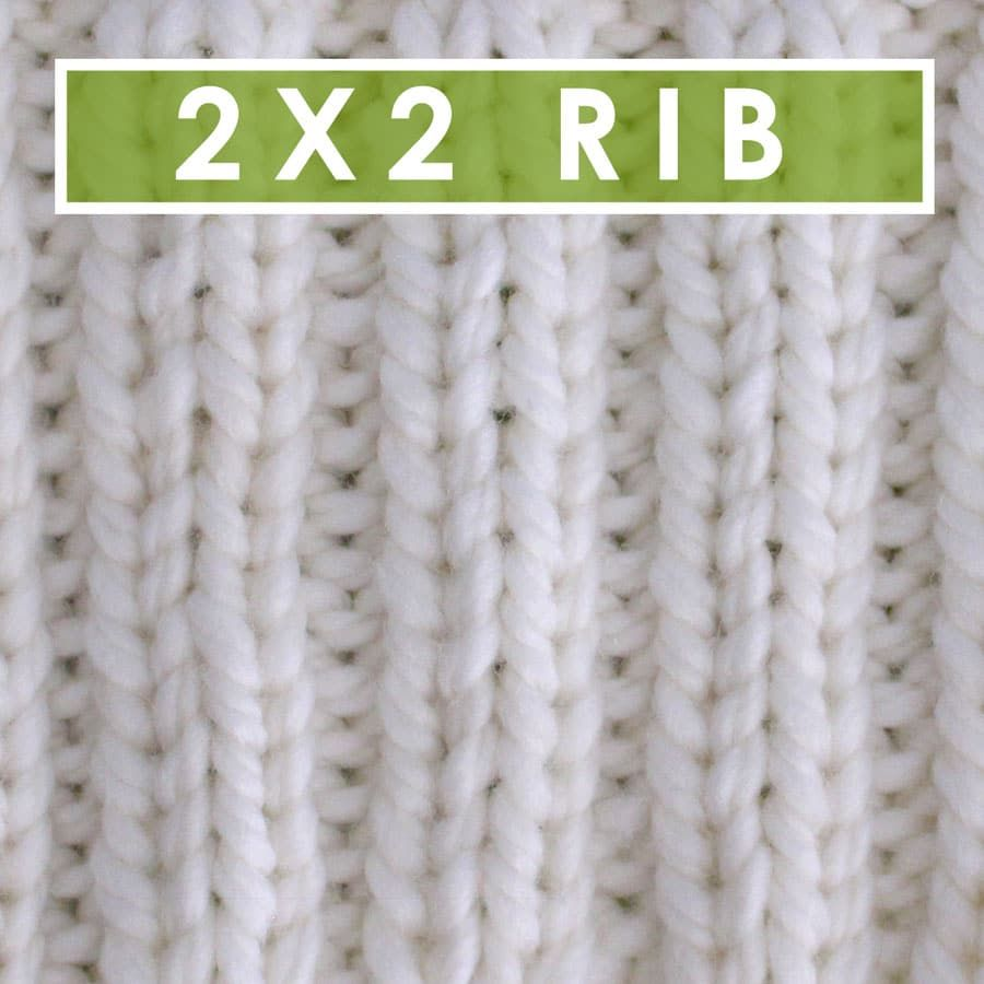 2x2 Rib Stitch (Knitting Pattern)