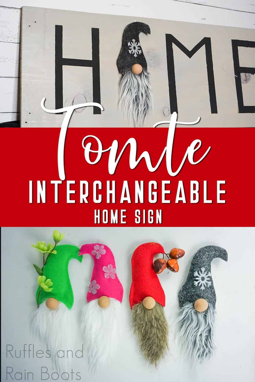 Make this Awesome Home Gnome Interchangeable Seasonal Sign ...
