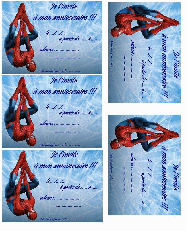 carte anniversaire spiderman 3 a