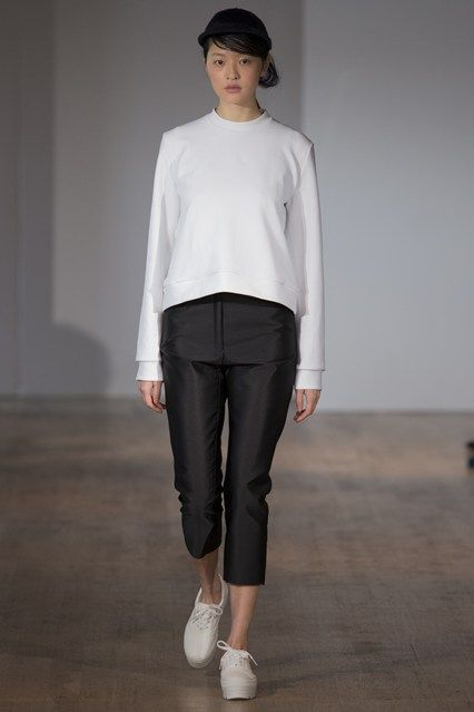White knit top by Charlie May.