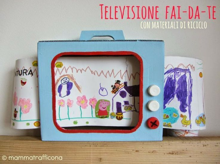 DIY cardboard tv - fun paper and cardboard crafts for kids