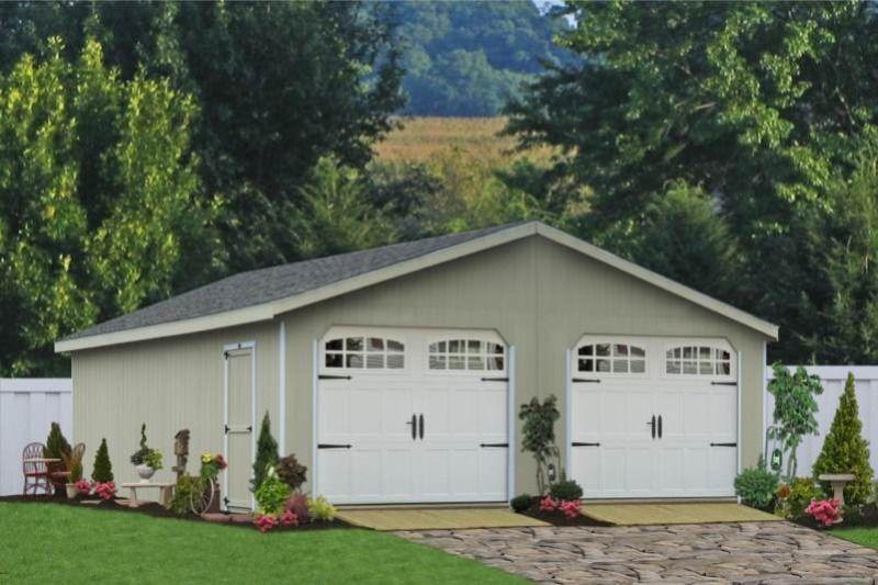 Standard Double Wide Garage Prefab garages