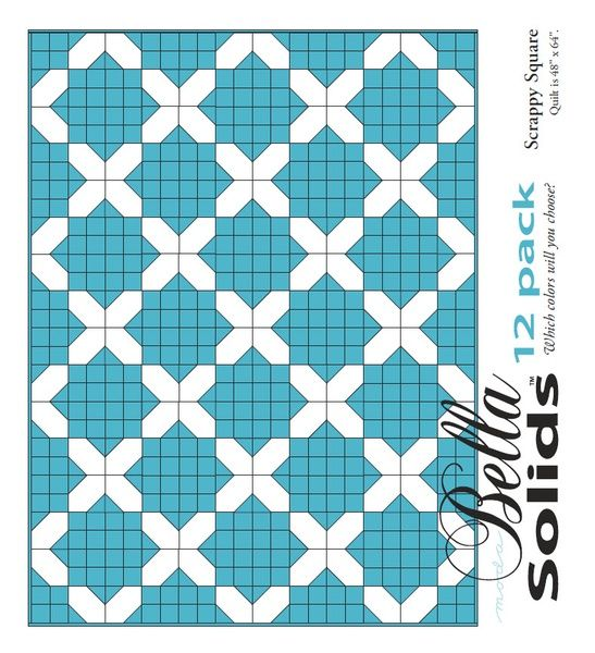 Scrappy Square Moda 12 Pack Fat Quarter Free Pattern Quilts