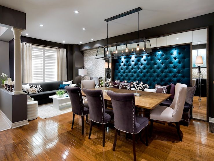 Candice Olson - dining rooms - black walls, black wall color ...