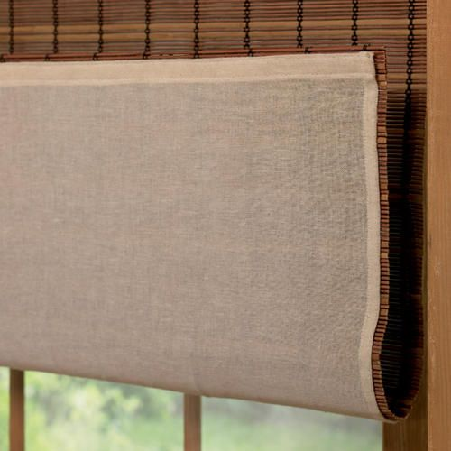 Intercrown Roman Shade Privacy Liner 72 Quot X 64 Quot Bamboo