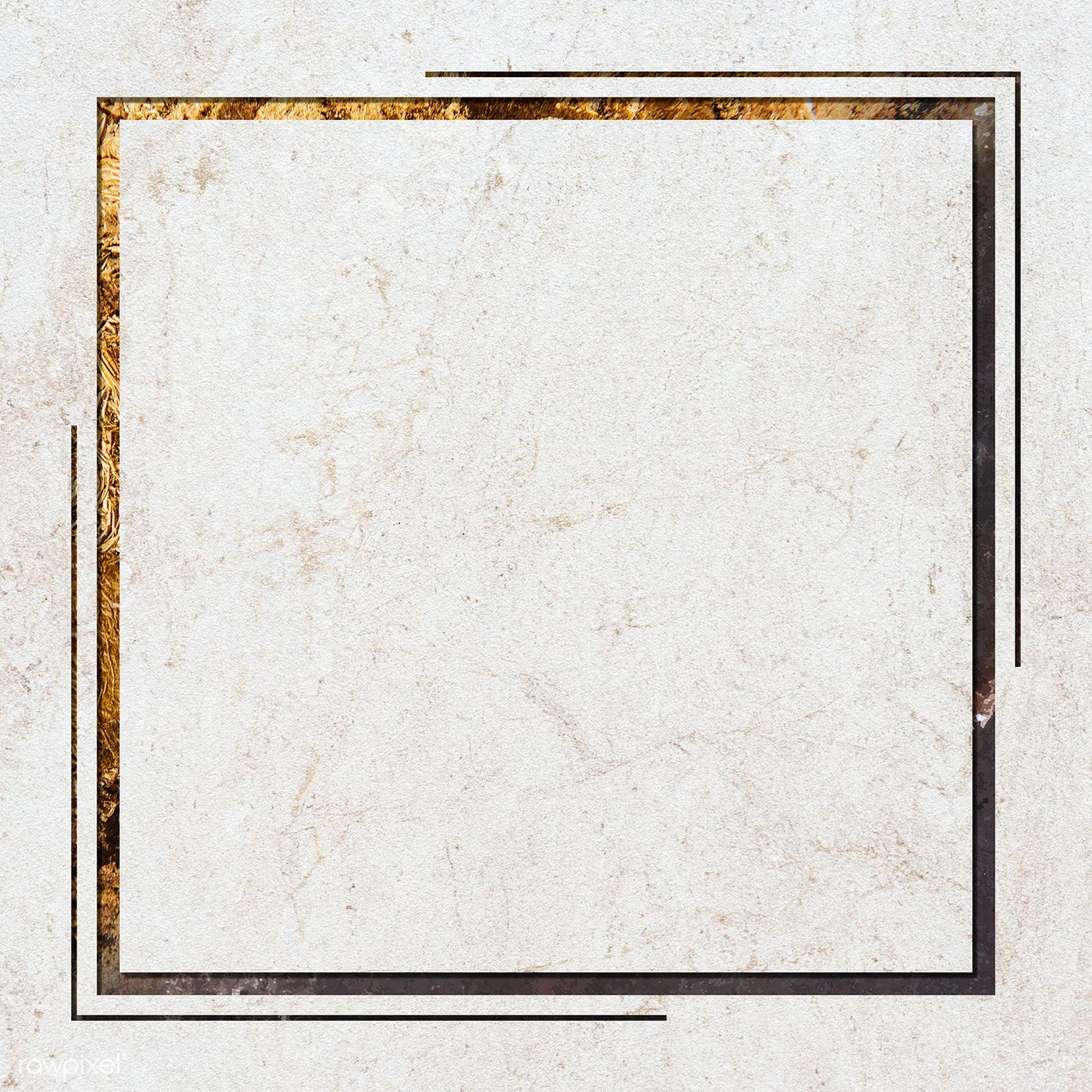 Download free illustration of Square frame on white marble textured