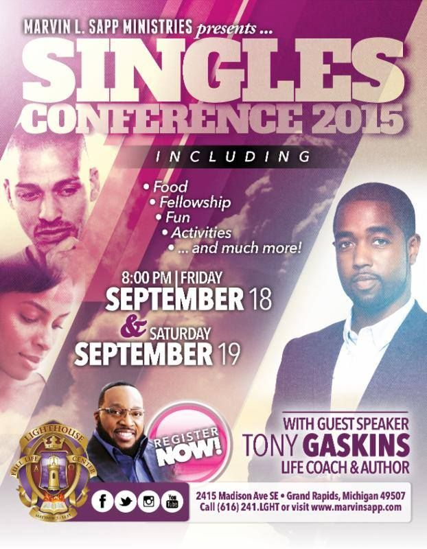 All adult singles are invited to join our Patiently Single Ministry as they journey to Grand Rapids for this wonderful Singles Conference! Please see Elder Loretta England or register at the Info Desk for details - cost $150/pp (includes conference registration, one night of double lodging and transportation) Don't miss this awesome opportunity!
