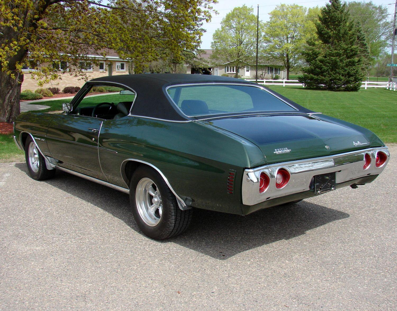1972 Green Chevy Malibu With Black Vinyl Top Chevy Malibu Chevy Muscle Cars Chevy