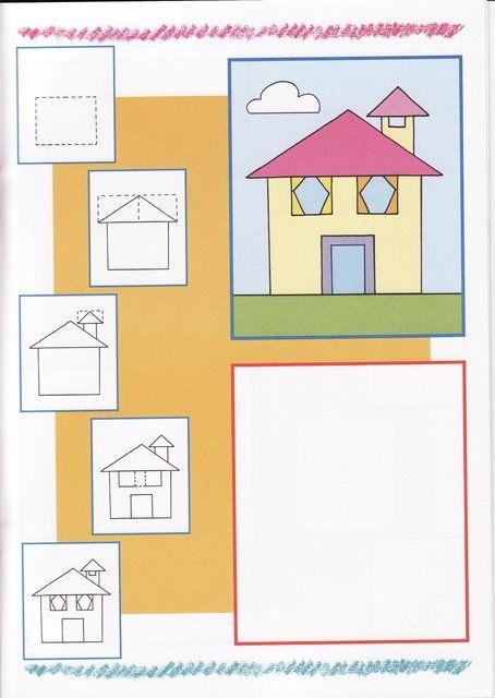 Huis tekenen met kleuters thema huis en verhuizen for Zelf huis tekenen