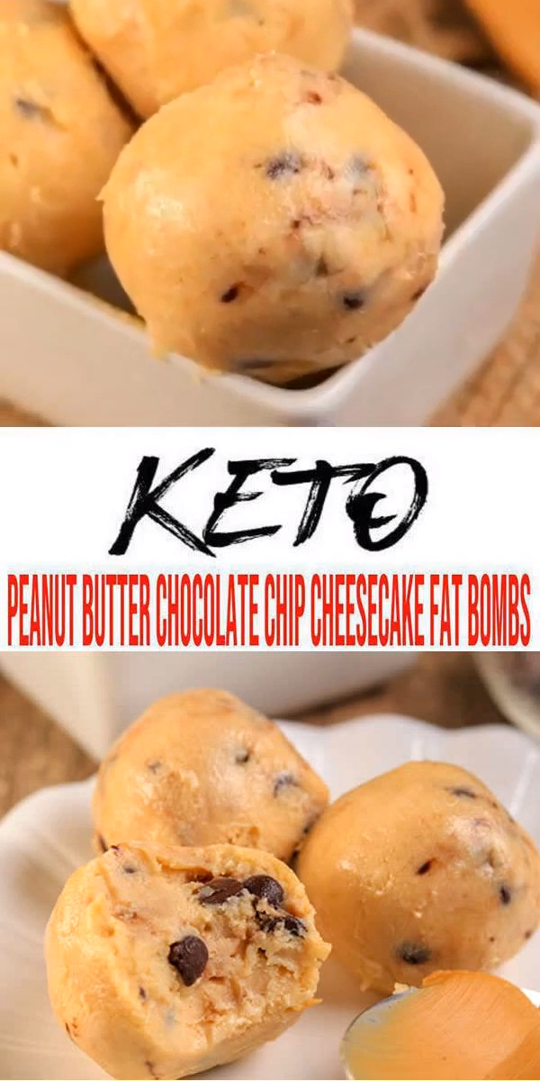 BEST Keto Fat Bombs! Low Carb Keto Peanut Butter Chocolate Chip Cheesecake Fat Bombs Idea – No Bake – Sugar Free – Quick & Easy Ketogenic Diet Recipe – Completely Keto Friendly