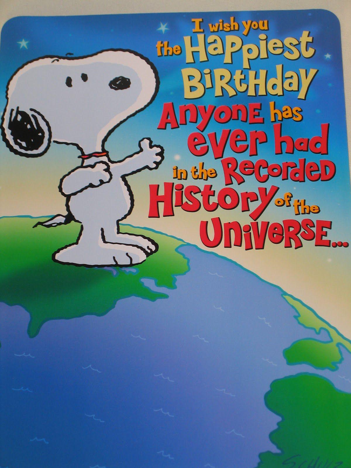 Handmade Birthday Cards For Friends Pinterest Happy Birthday Snoopy