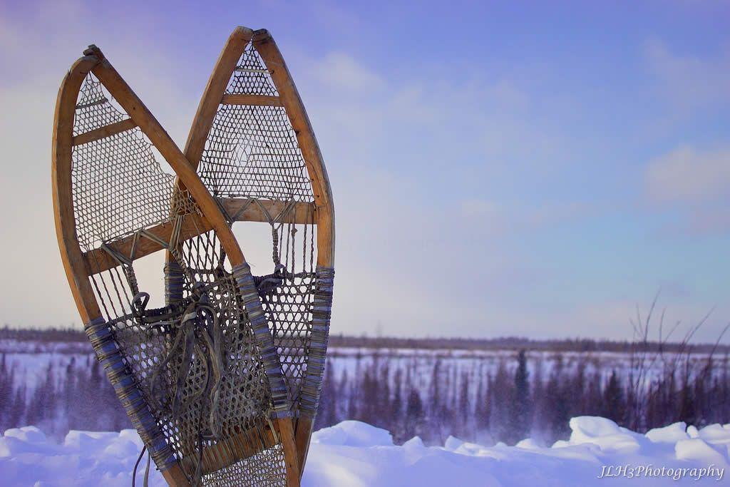 Raquetas de nieve de madera