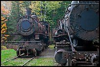 Coal fired locomotives converted to oil burners in the Allagash Wilderness Waterway, 1927ish to 1933ish