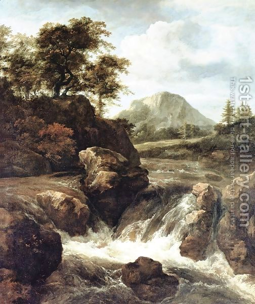 A Waterfall Dulwich Picture Gallery Oil Painting Landscape Landscape Paintings