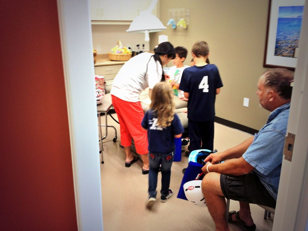 Children got to do a stitching practice at grand opening