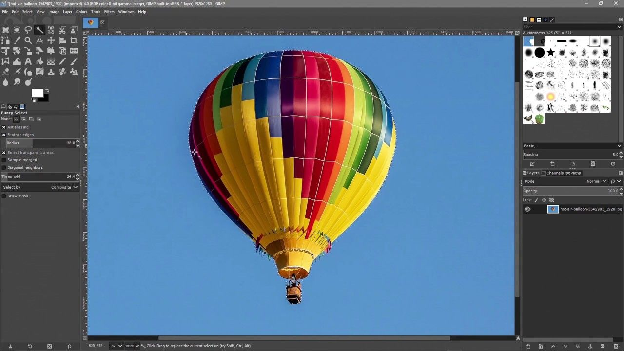 Speed Art GIMP 2.10 Magic Wand [ Click link in