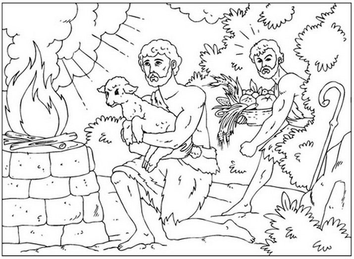 Week 2 Cain And Abel Bible Coloring PagesColoring