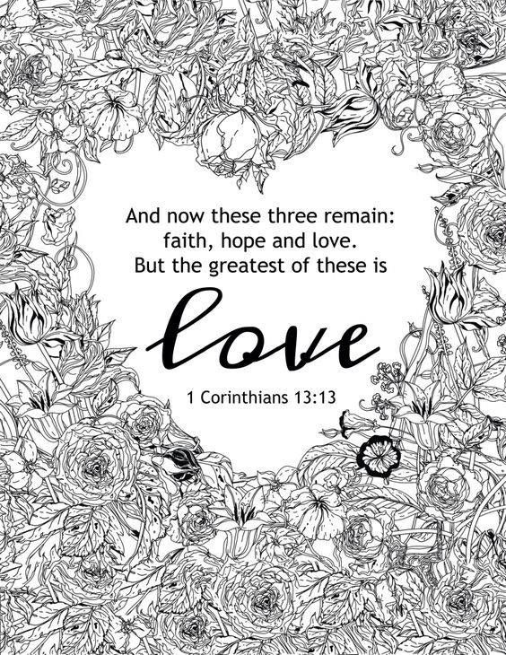 Love Bible Verse Coloring Page Bible Verse Coloring Valentine Coloring Pages