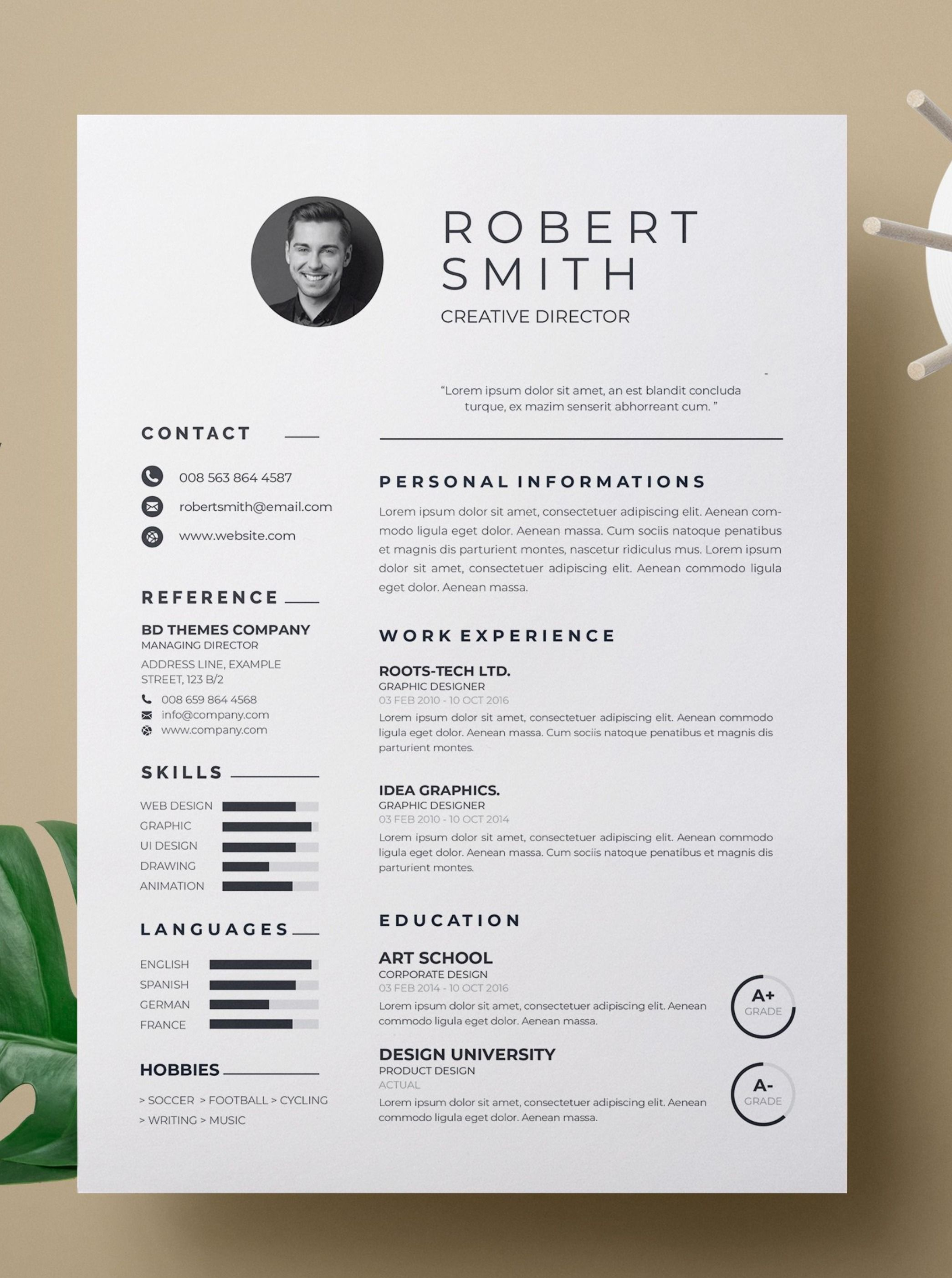 4 High Quality Resume Template For Ms Word Download Now Resume Template Resume Template Professional Templates