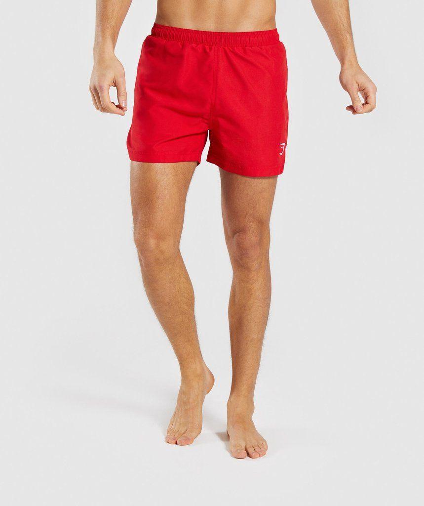 5f90bb38192ba Gymshark Atlantic Swim Shorts - Red in 2019 | Weapons | Swim shorts ...