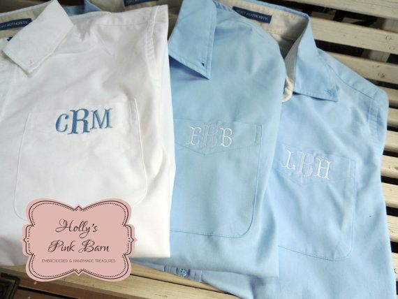 Monogrammed Shirt/ Monogrammed Oxford/ Monogrammed Button Up/ Bridesmaid Oxfords/ Bridal Party Shirt B3Uvd0ACNZ