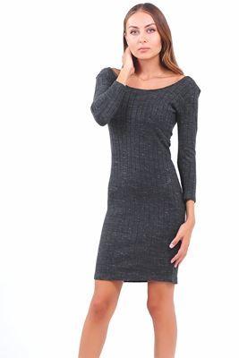 Detaylari Goster Fume Triko Elbise Elbise Elbise Modelleri Kazak Elbise
