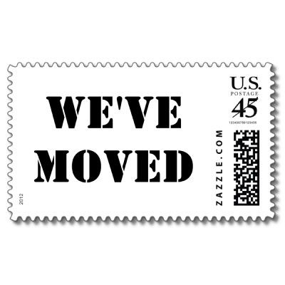 Weve Moved Custom Postage Stamps