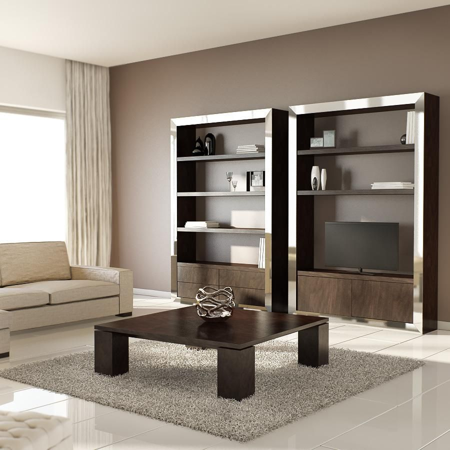 Mueble de televisión formado por un marco exterior moldurado a ...