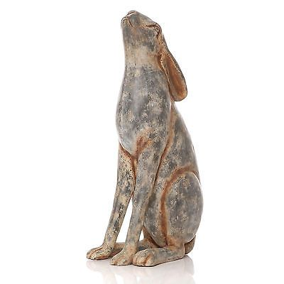 43cm Vintage Moon Gazing March Hare Outdoor Garden Animal Ornament Animal Statue