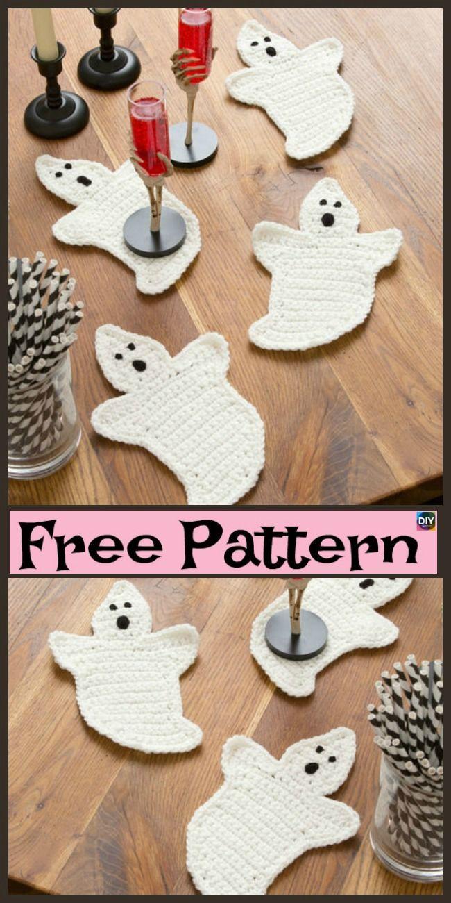 10 Crochet Halloween Decorations- Free Patterns #halloween