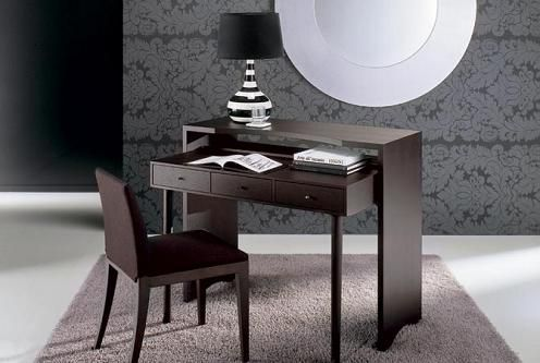 small space office desk. Scrivano Accent Table Doubles As A Small Office Desk Opening Up Possibilities For Footprint Places. When The Is Not In Use It Easily Tucks Away Space
