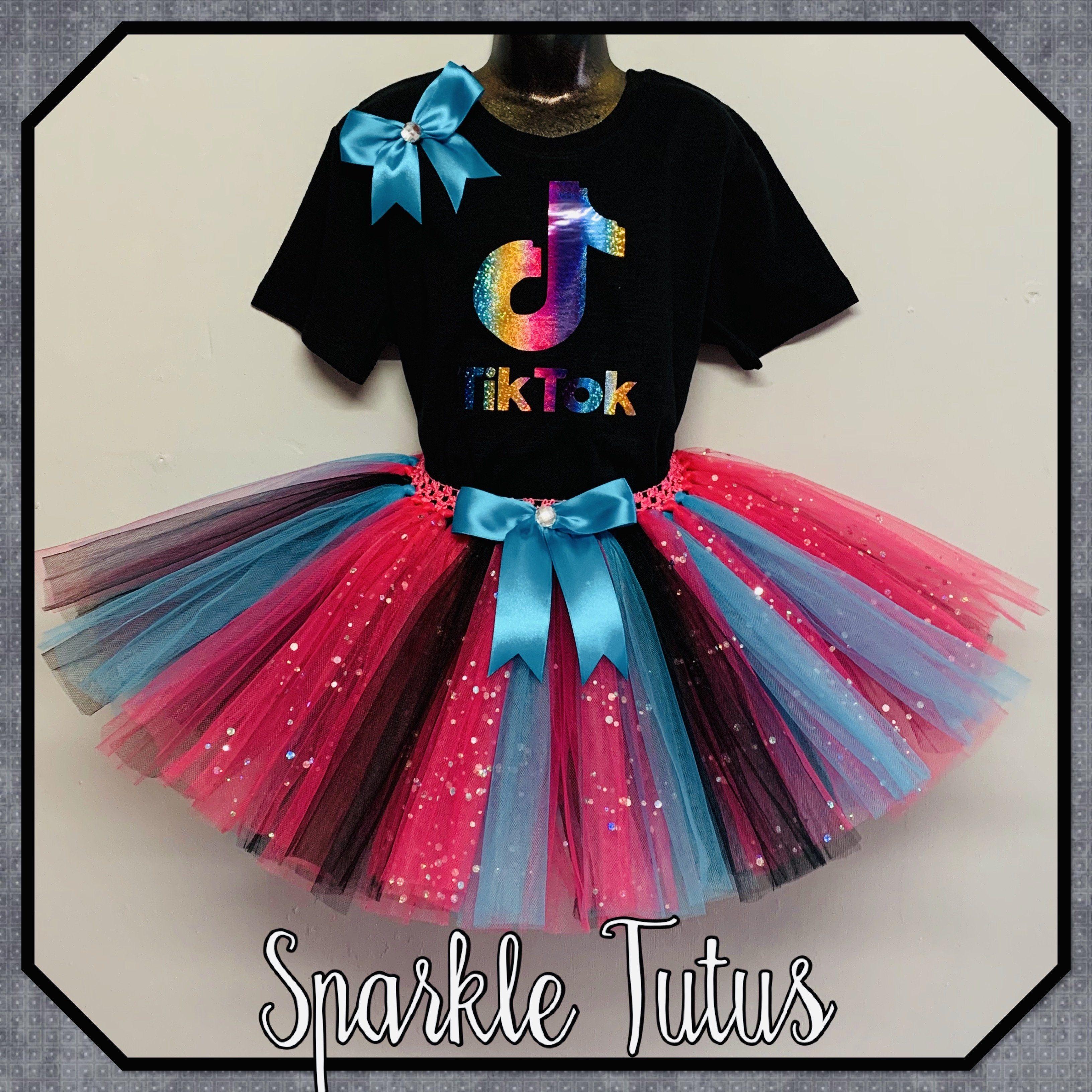 Tiktok Inspired Birthday Party Dance Tutu Outfit In 2021 Tutu Outfits Birthday Party Outfits Girls Birthday Party Themes