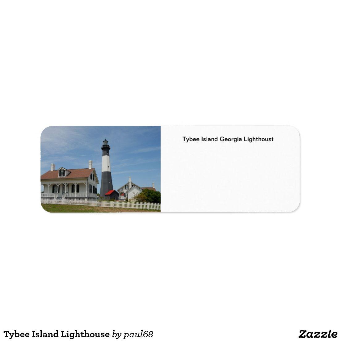 Tybee Island Lighthouse Label