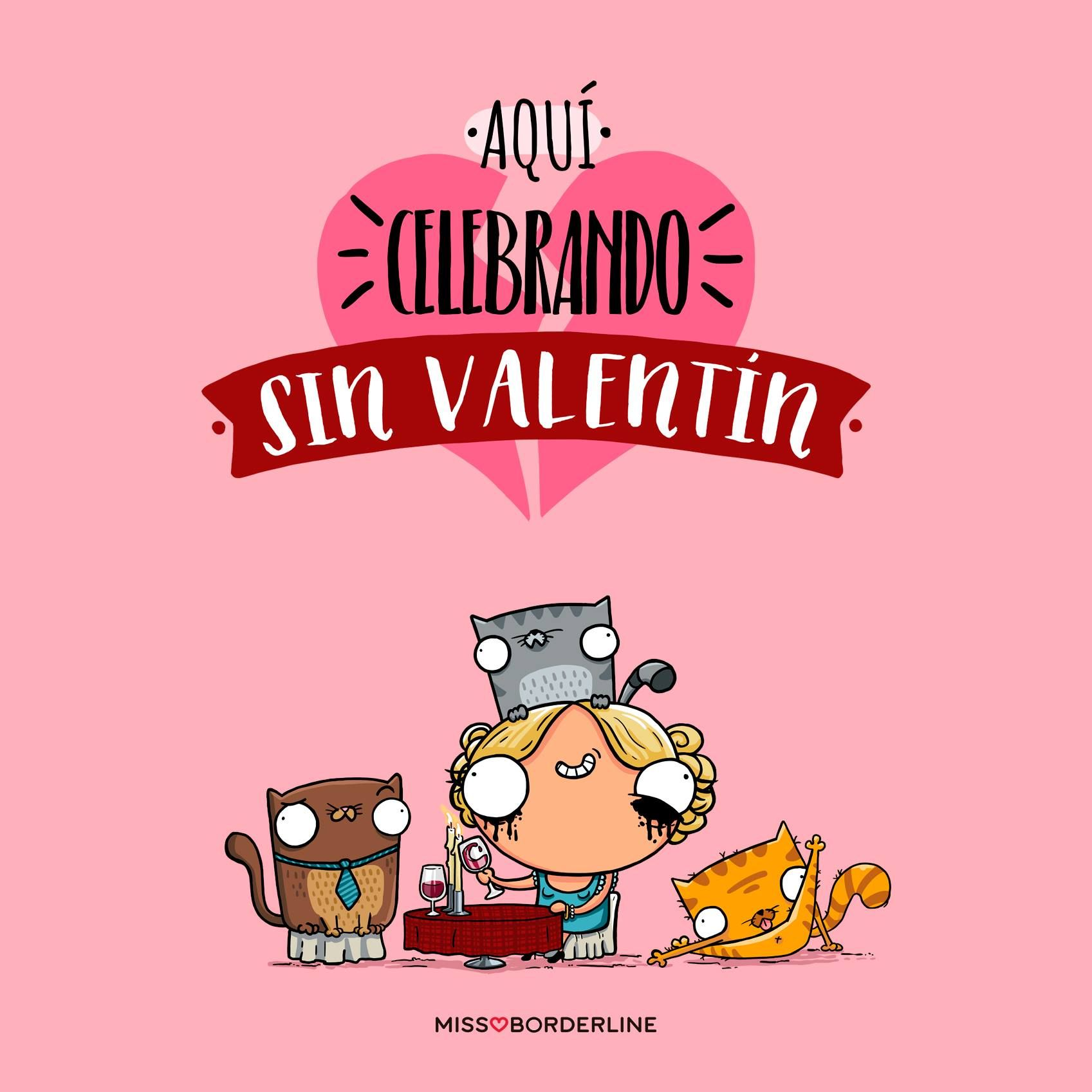 Aqui Celebrando Sin Valentin Sanvalentin Humor Graciosas