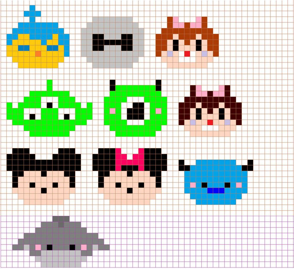 Disney Tsum Tsum Cross Stitch Pattern By Moonprincessluna