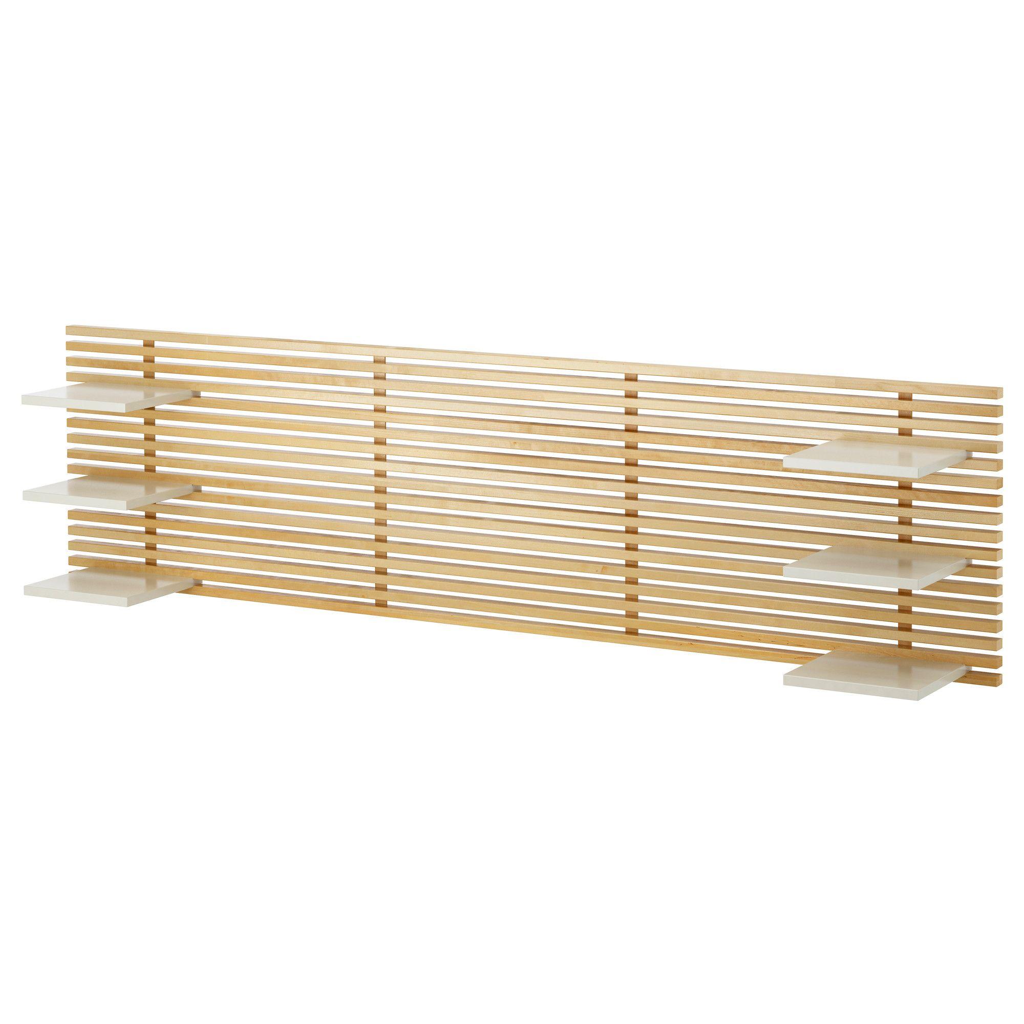 IKEA   MANDAL, Kopfteil, , Das Kopfteil Kann In Verbindung Mit Den  Versetzbaren Ablagen