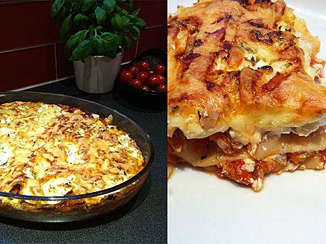 lasagne keso recept