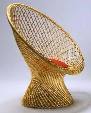 Design rattan armchair by Franco Albini PRIMAVERA