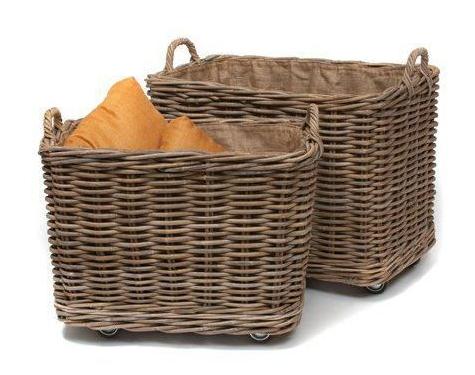 Coastal And Nautical Storage Baskets And Bins Rolling Storage