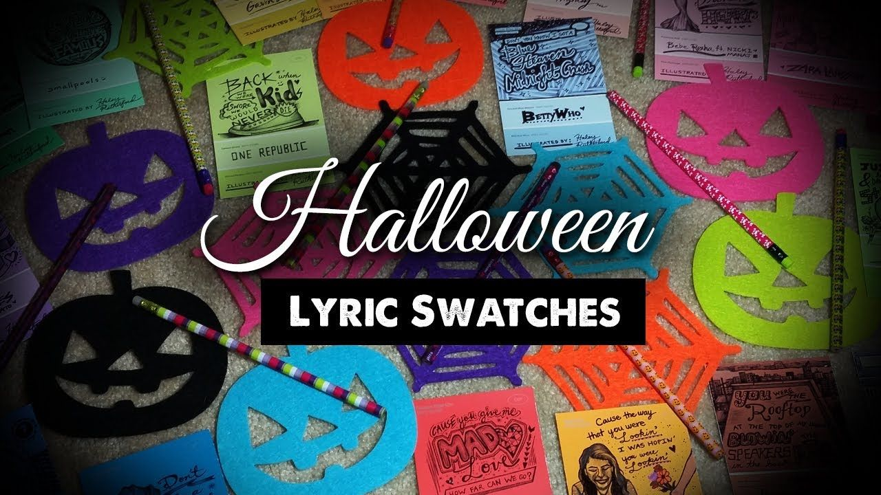 This video combines some cool #Halloween items and the lyric swatches I have created so far. #lyrics #swatch #colors #col…   Halloween lyrics ...