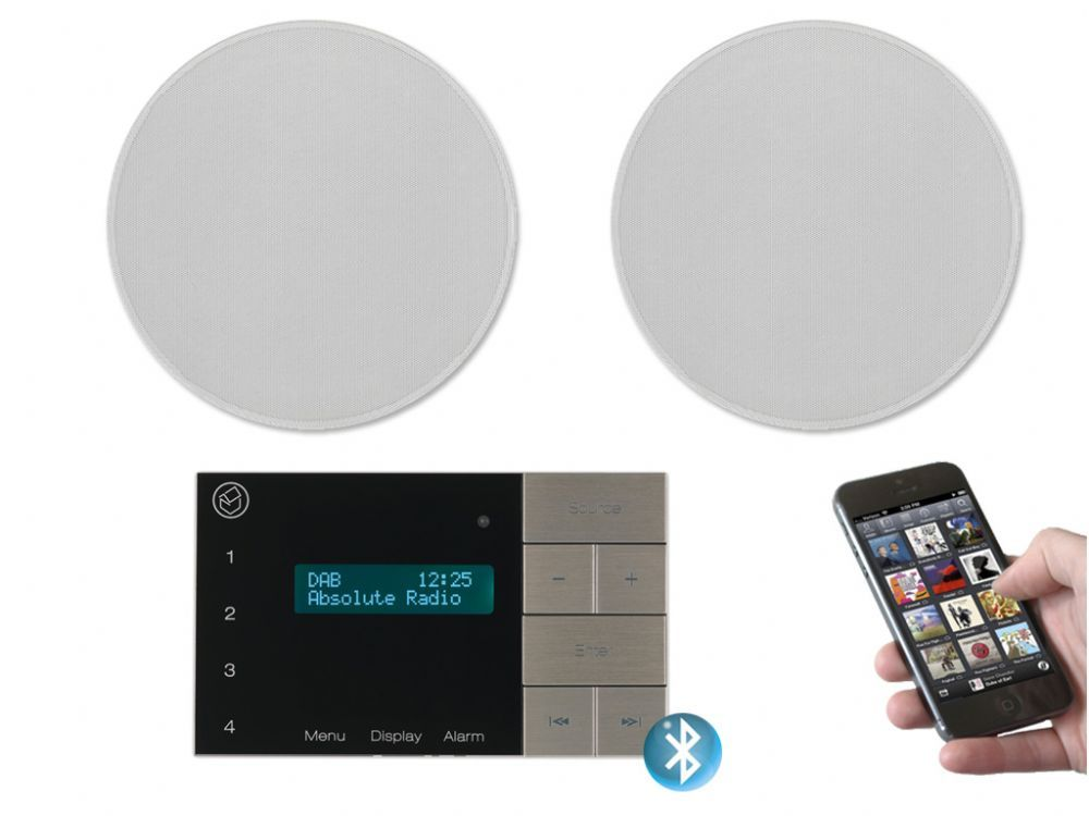 Bluetooth ceiling speakers arctic s111 4w grey for Best bluetooth speaker for bathroom