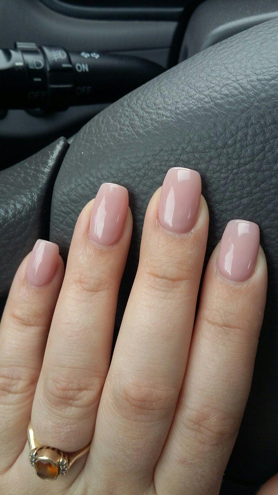 Neutral Nail Color Short Pink Nails Neutral Nails Sns Nails Colors