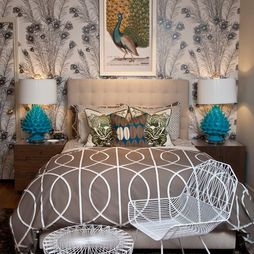 Peacock Bedroom Love It Eclectic Bedroom Master Bedroom Interior Peacock Decor