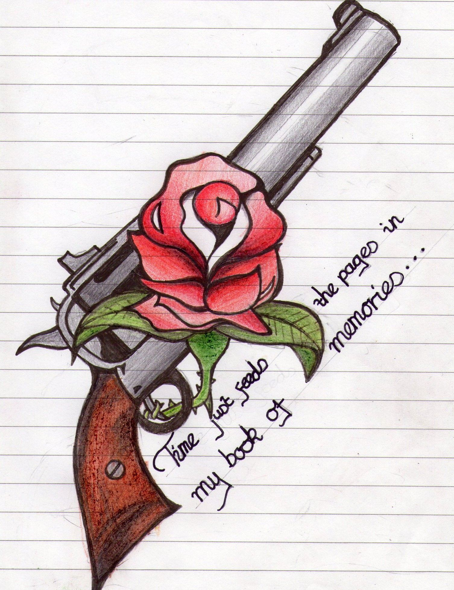 Guns N Roses Tattoo Roses Drawing Flower Drawing Rose Tattoos