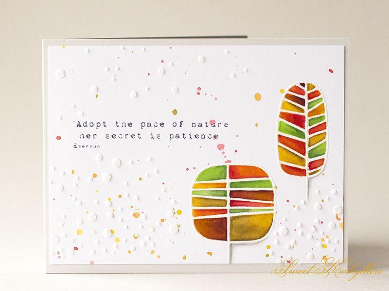 Love this card created by Ksenija Rizova using Simon Says Stamp Exclusives.